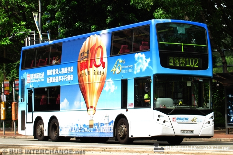 ATE 81 / LE3009 on Route 102 / Alexander Dennis Enviro 500