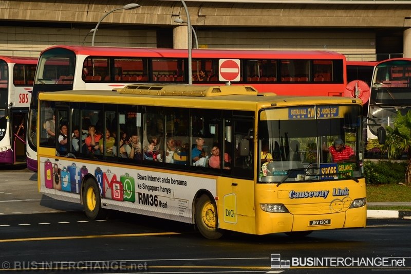 A Mercedes-Benz CBC1725 (JHV1304) operating on Causeway Link bus service CW4S