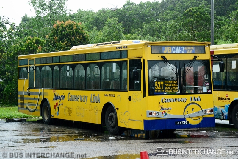 A Mercedes-Benz CBC1725 (JLW7090) operating on Causeway Link bus service CW3