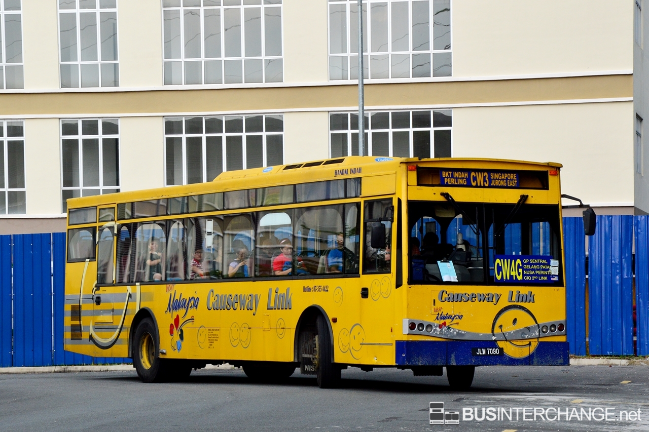 A Mercedes-Benz CBC1725 (JLW7090) operating on Causeway Link bus service CW4G