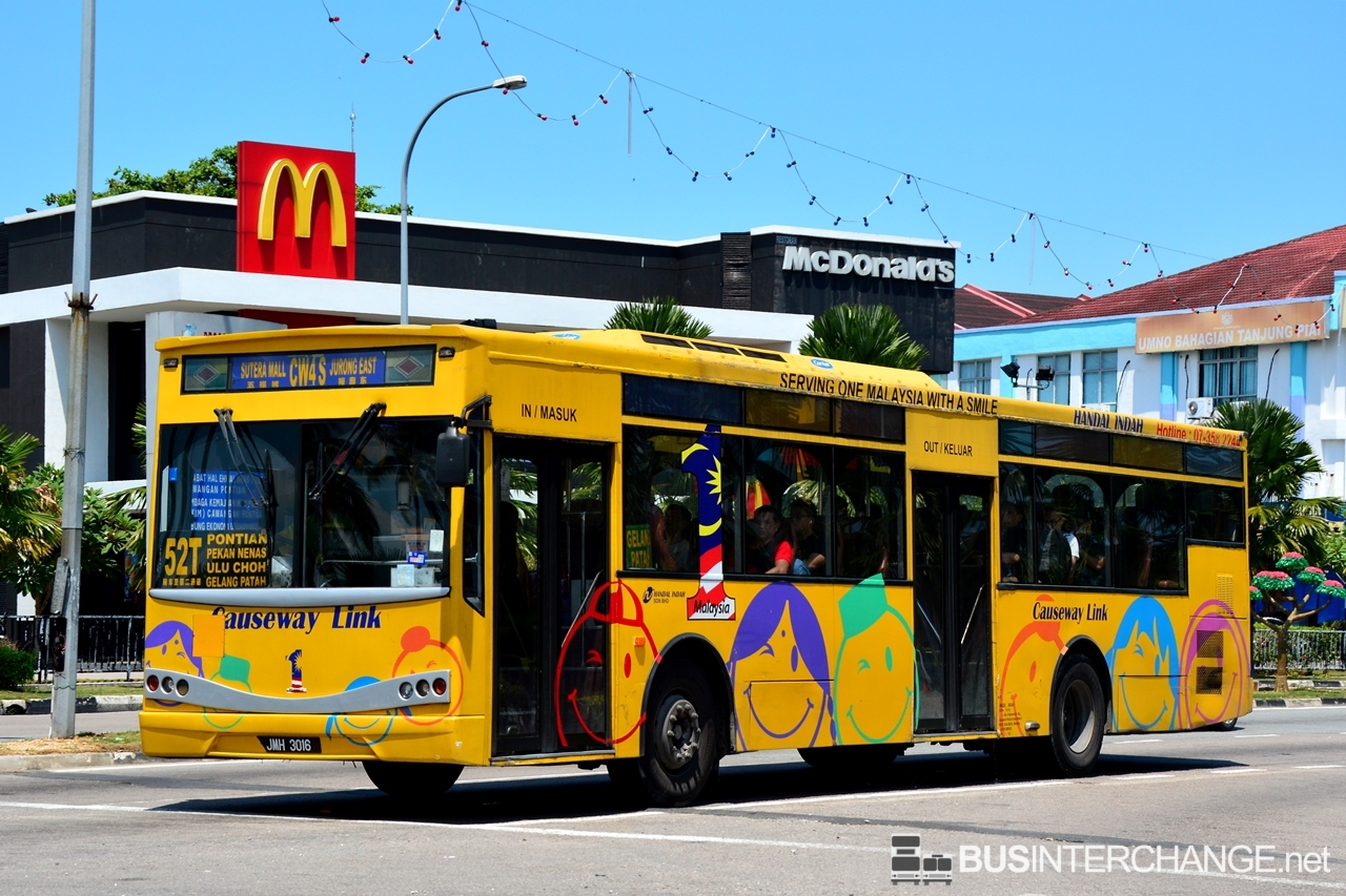A Mercedes-Benz CBC1725 (JMH3016) operating on Causeway Link bus service 52T