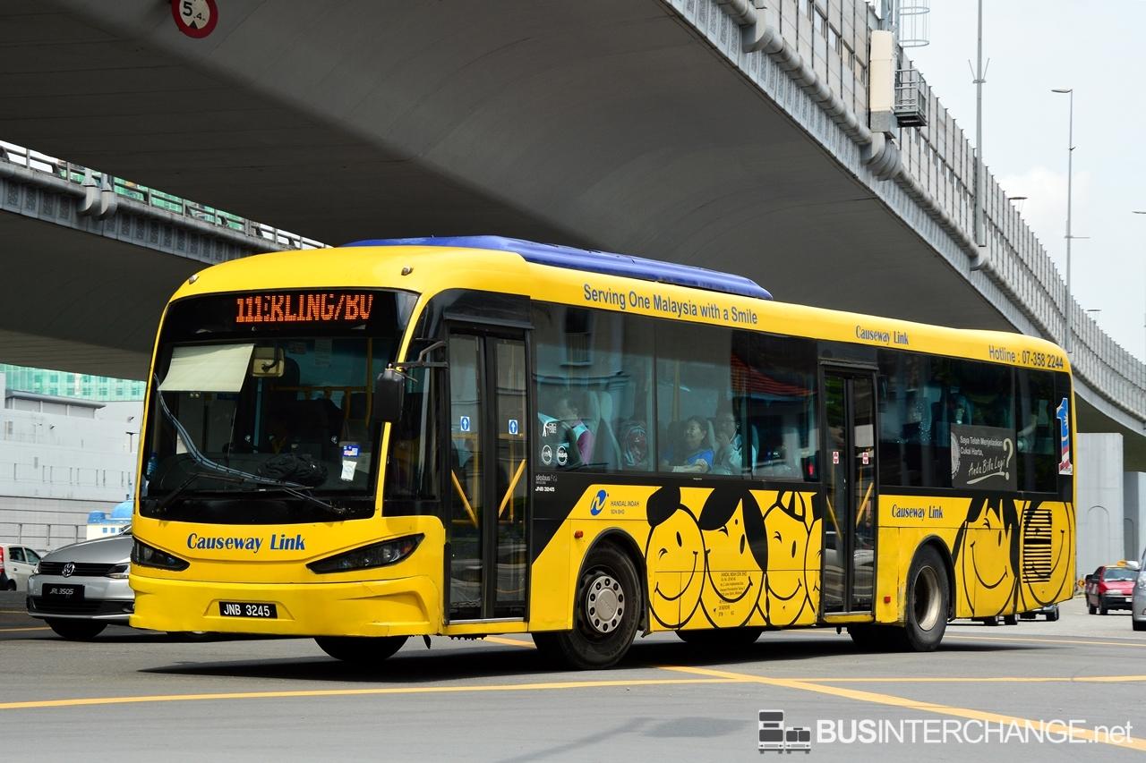 causeway link 111: jb sentral - taman tan sri yaacob   bus service