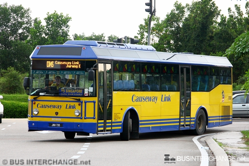 A Scania K310IB (JNH 735) operating on Causeway Link bus service CW4S