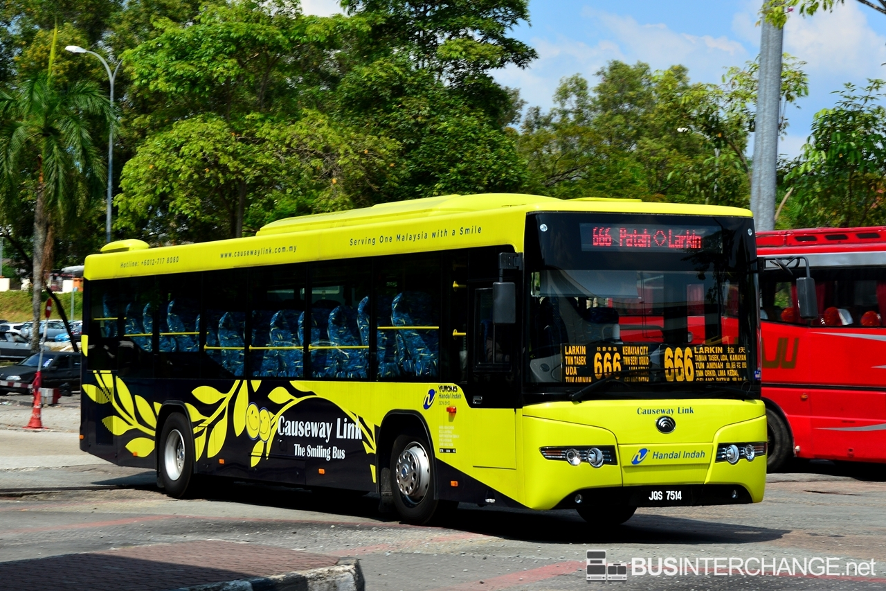 A Yutong ZK6118HG (JQS7514) operating on Causeway Link bus service 666