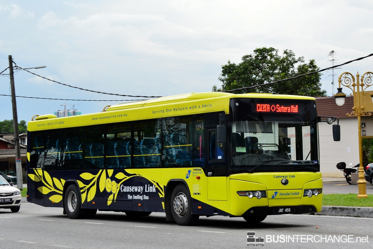 A Yutong ZK6118HG (JQT455) operating on Causeway Link bus service CW3S