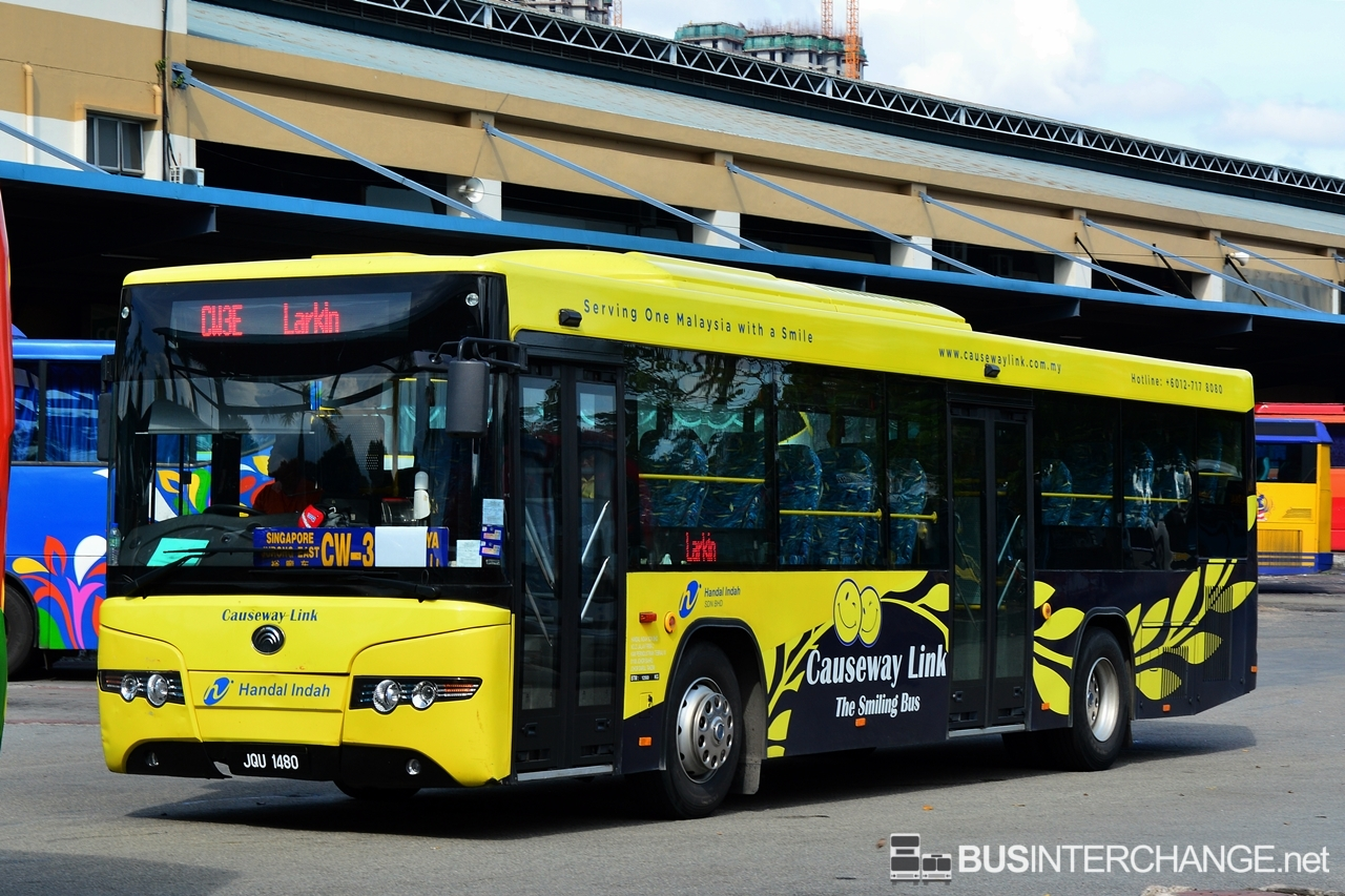 A Yutong ZK6118HG (JQU1480) operating on Causeway Link bus service CW3E