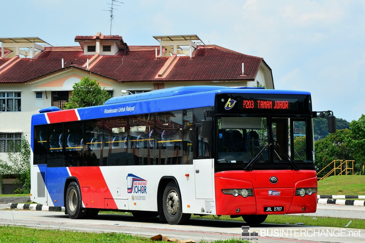 A Yutong ZK6118HG (JRL2707 ) operating on Causeway Link bus service P203