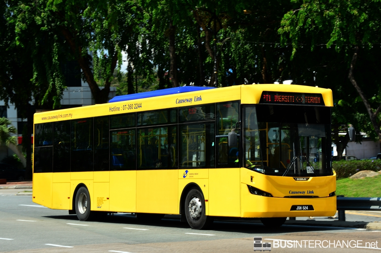A Sksbus LEC-300H (JSN524) operating on Causeway Link bus service PT1