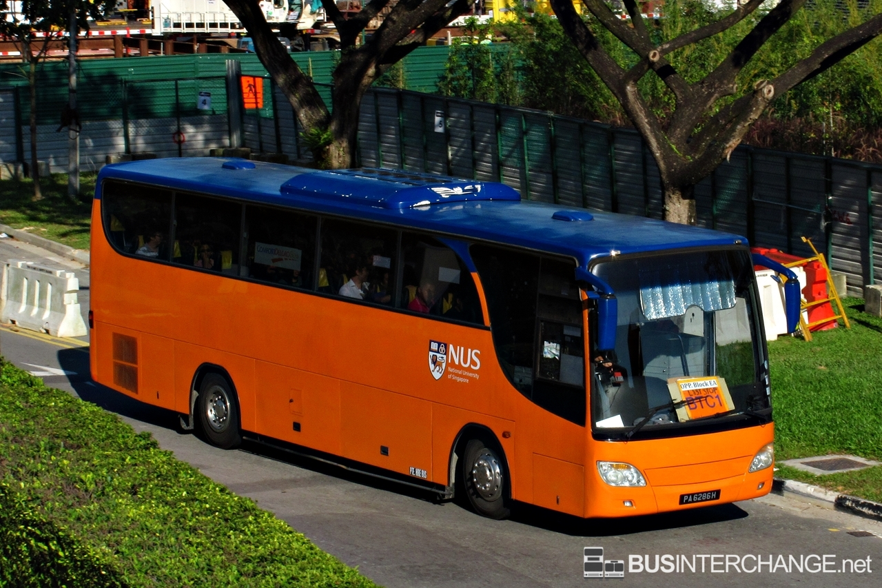 Nus Isb Btc1 Kent Ridge Nus Bukit Timah Campus Bus Map