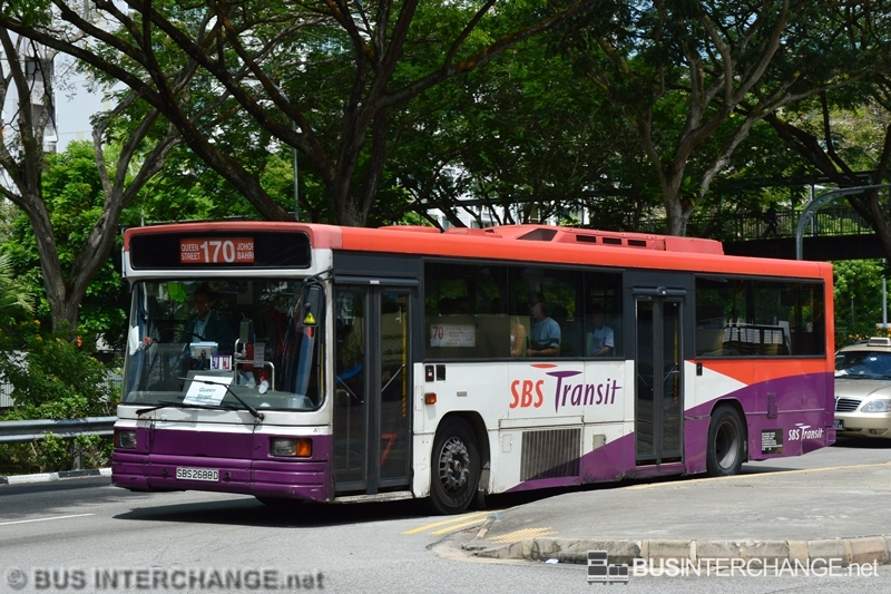 A Volvo B10M (Mark IV) (SBS2688D) operating on SBS Transit bus service 170