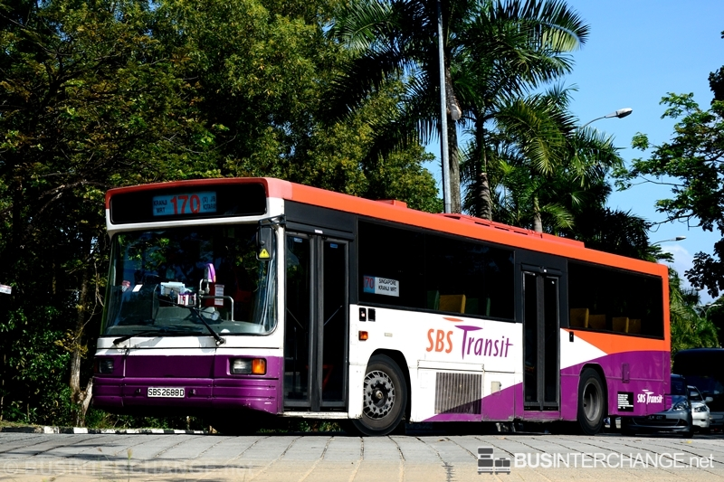 A Volvo B10M (Mark IV) (SBS2688D) operating on SBS Transit bus service 170X