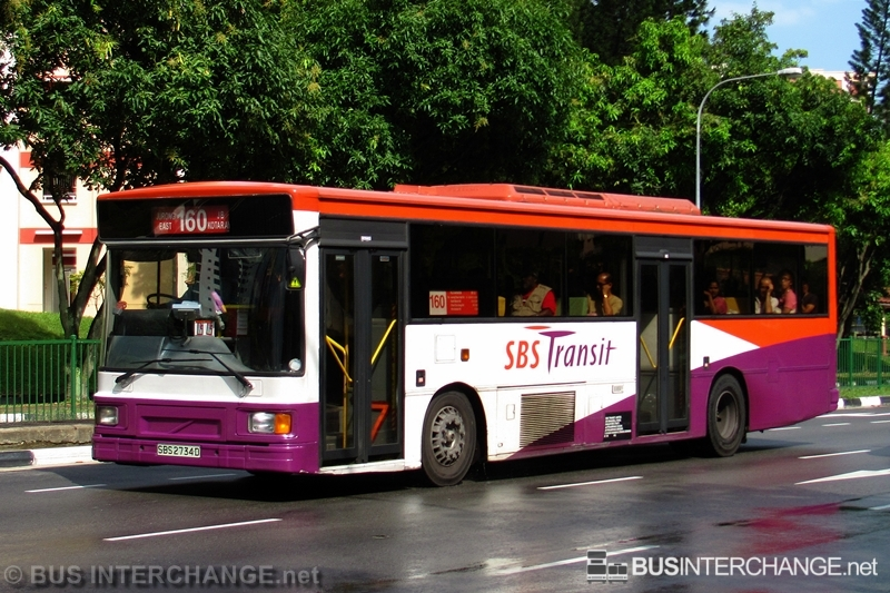 A Volvo B10M (Mark IV) (SBS2734D) operating on SBS Transit bus service 160