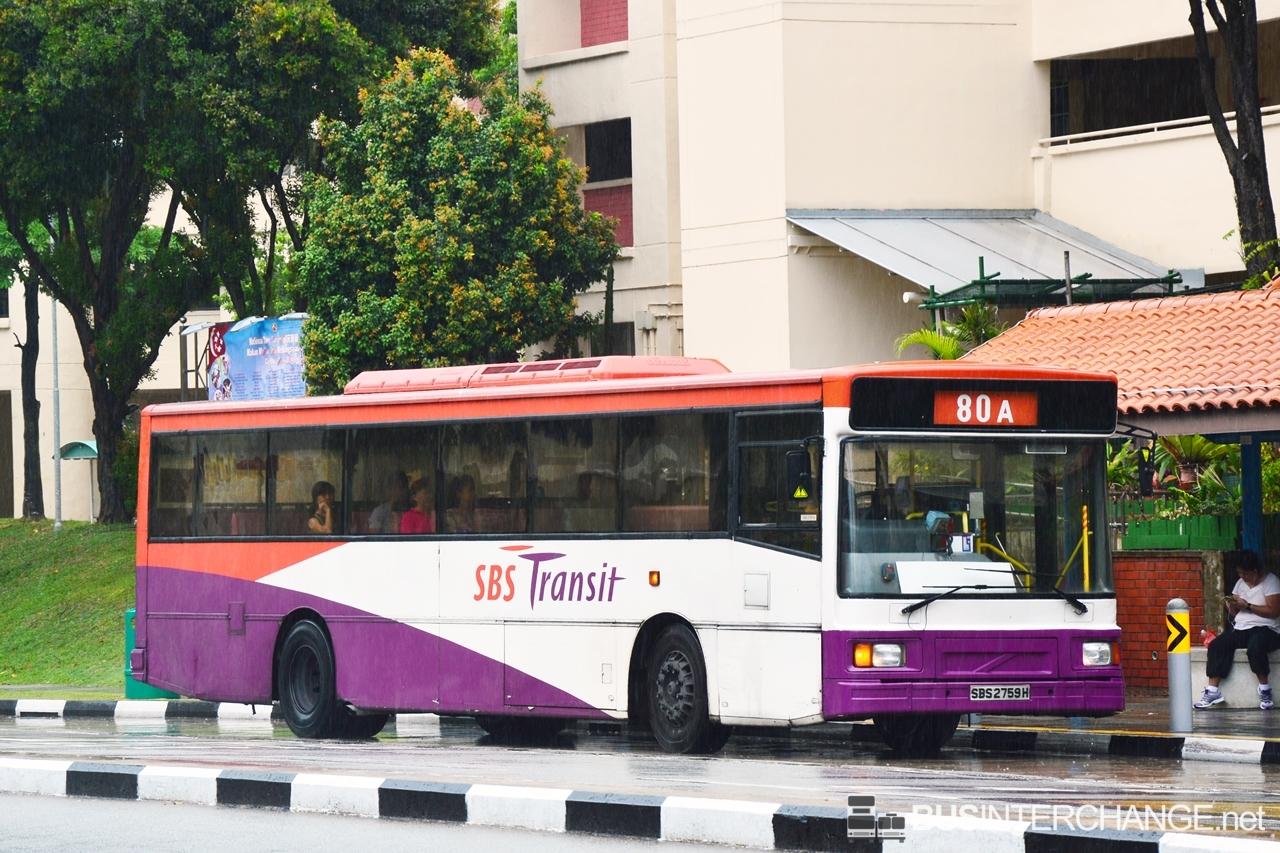 Sbs Transit 80a Sengkang Aljunied Mrt Bus Service