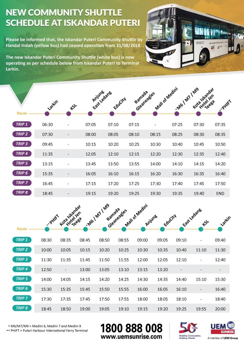 UEM Sunrise To Operate Iskandar Puteri Community Shuttle Bus