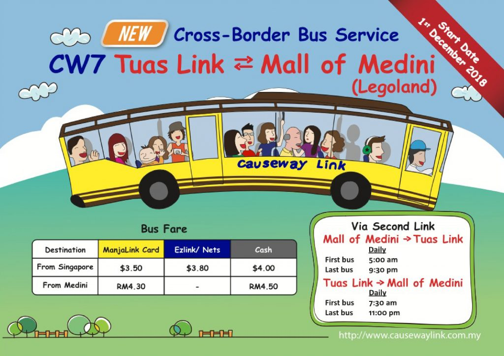 New Cross-border Bus Service CW7 From Tuas Link