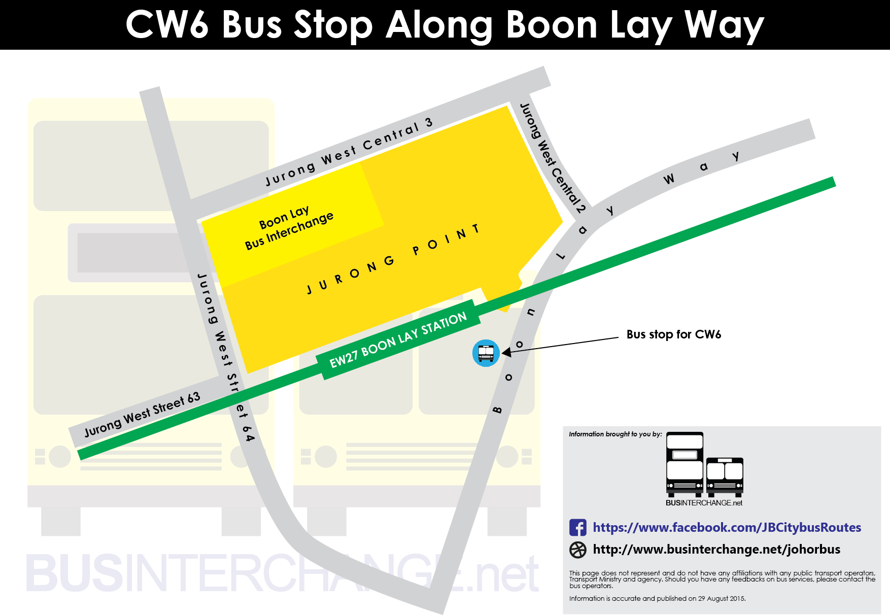Boarding location at Boon Lay for CW6