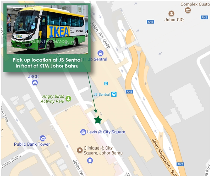 Boarding Location for IKEA Tebrau shuttle bus at JB Sentral