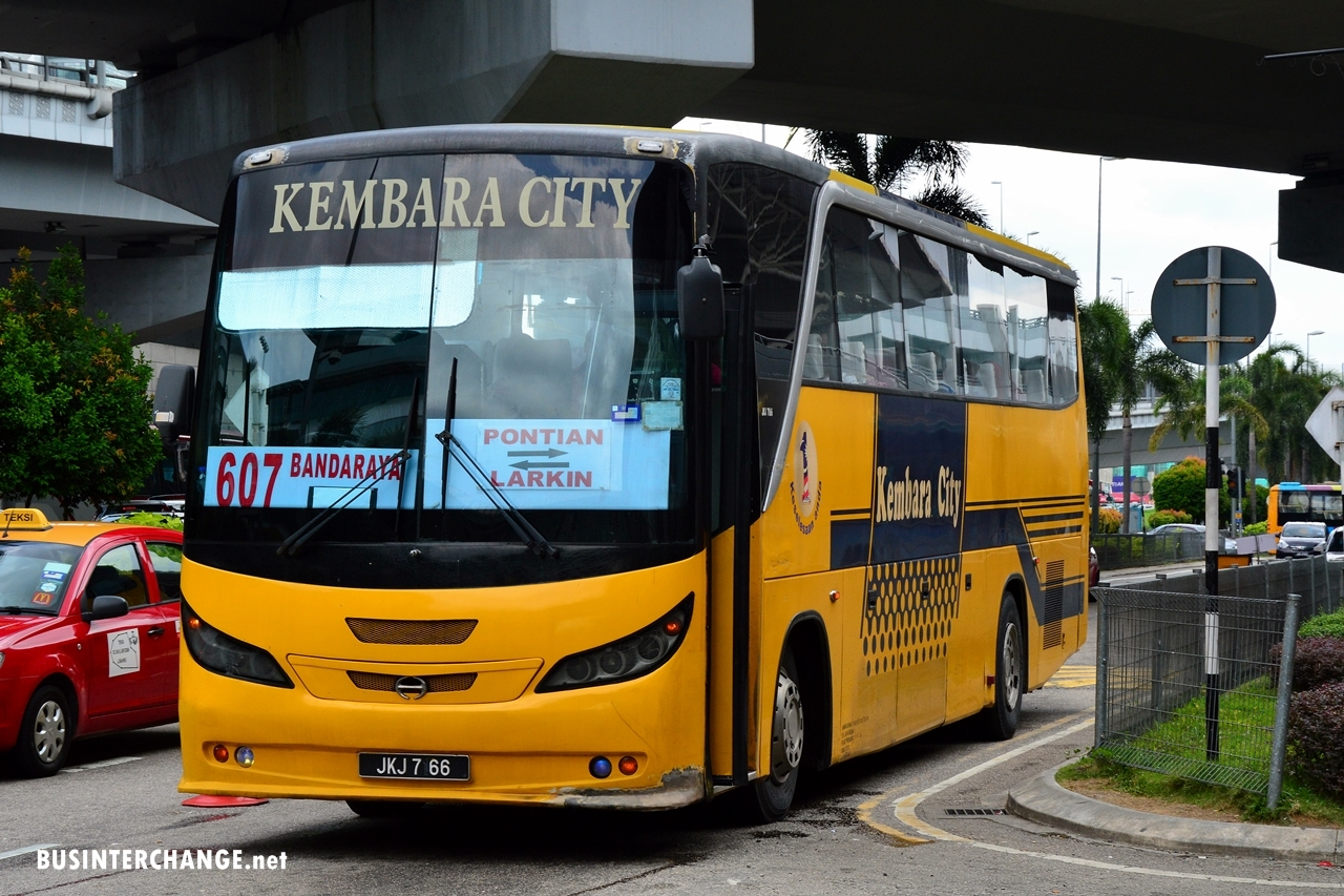New Bus Service 607 From Pontian To JB Sentral - Bus Interchange