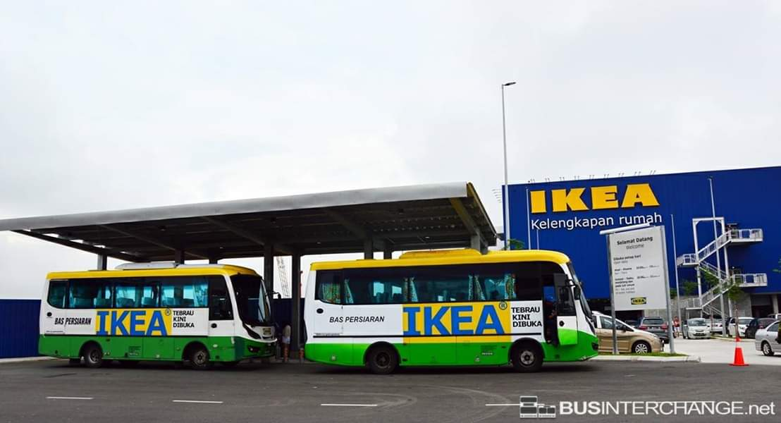 IKEA Tebrau shuttle buses stopping over at Ikea Tebrau.