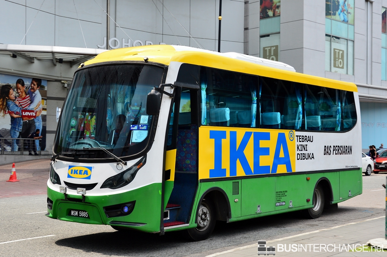 Bas Persiaran are deployed for the free shuttle bus service to IKEA Tebrau.