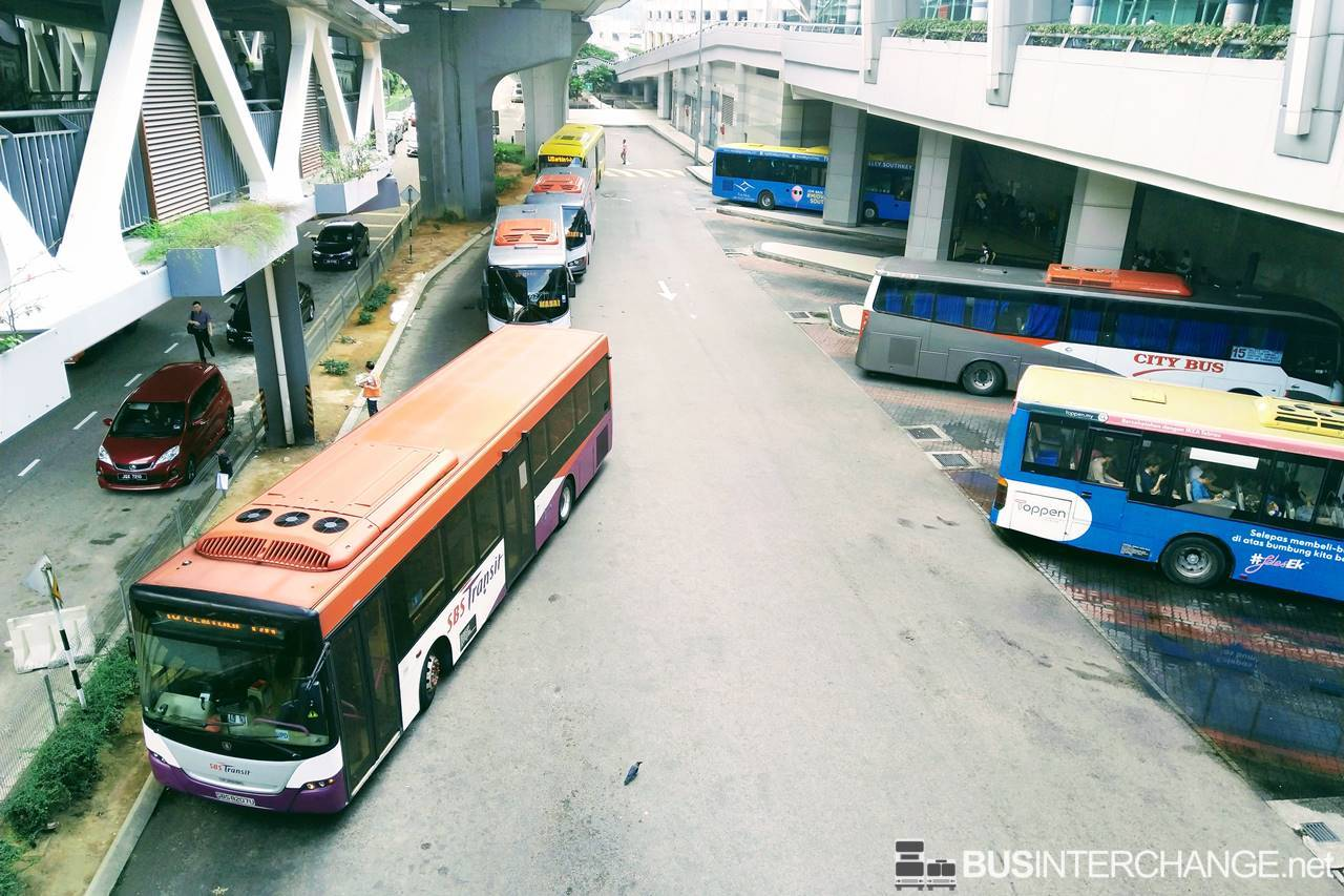 File Photo: Local and Cross-border buses at JB Sentral Terminal