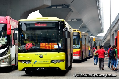 A typical Causeway Link bus at JB Sentral Bus Terminal.
