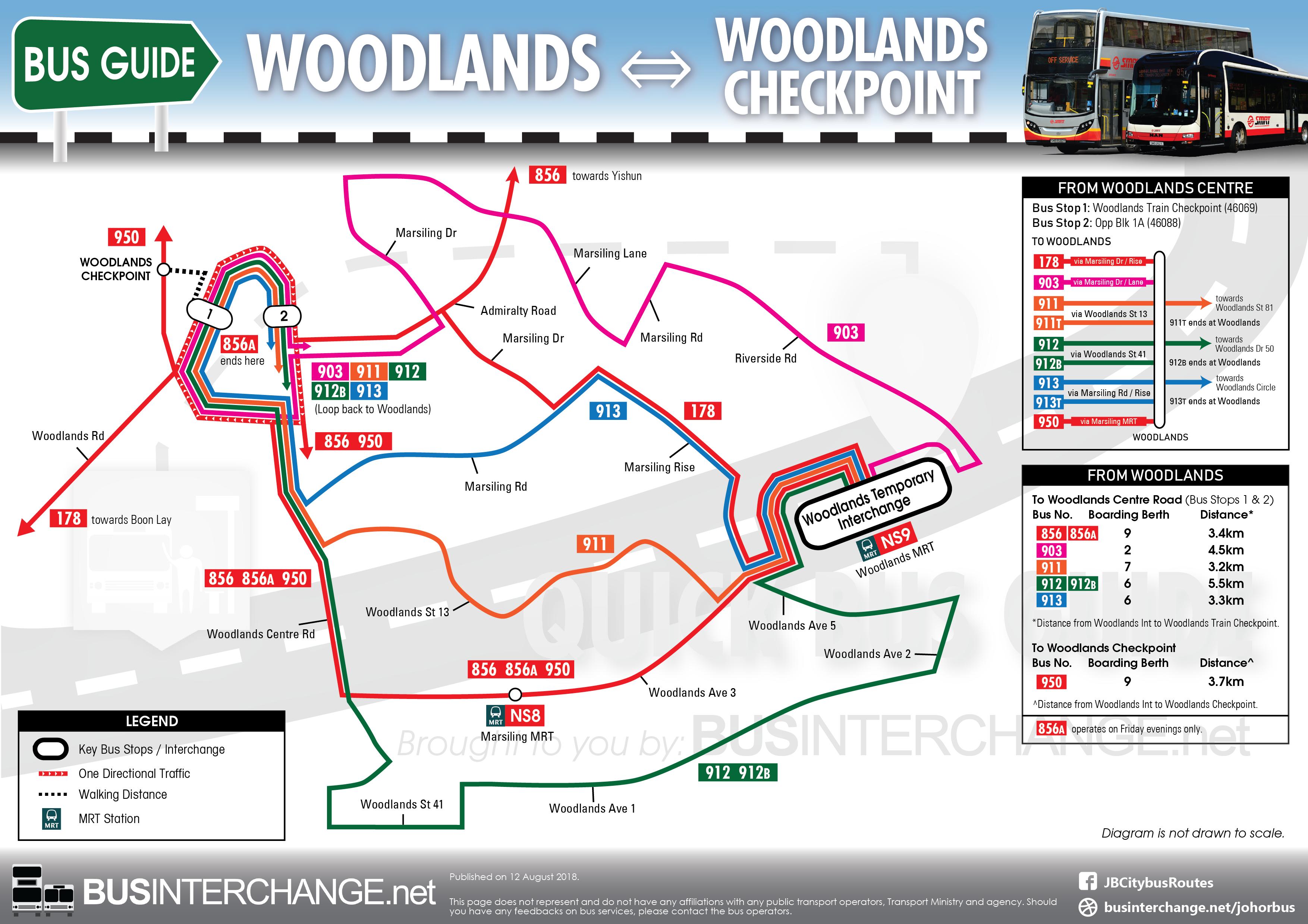 Bus Services From Singapore to Johor Bahru (via Woodlands) - Bus ...