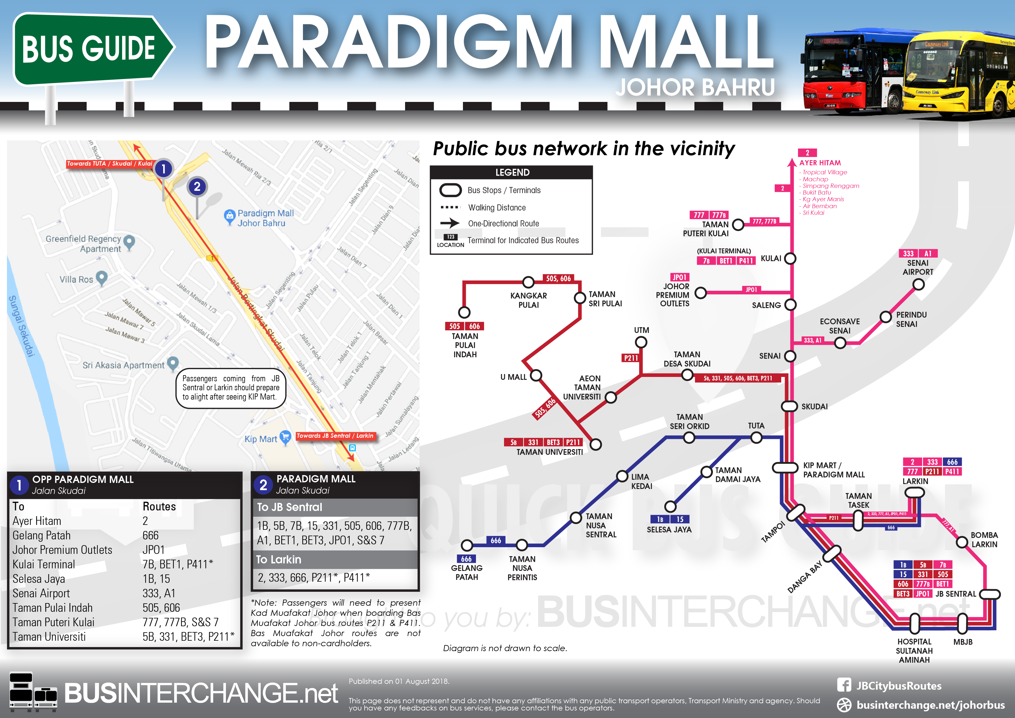 Bus Services To Paradigm Mall Johor Bahru - Bus Interchange