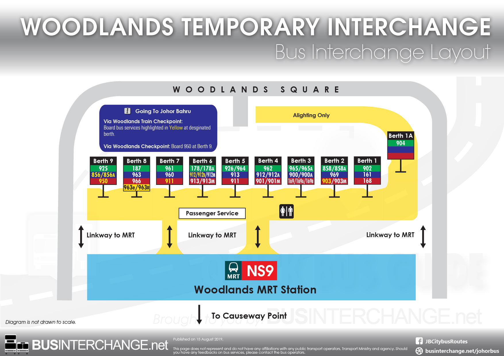 Woodlands Temporary Bus Interchange Layout