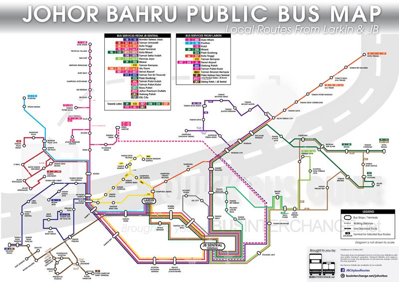 Quick Guide for Johor Bahru Bus Services