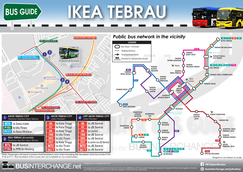 Easy Guide for Buses to IKEA Tebrau / AEON Tebrau City