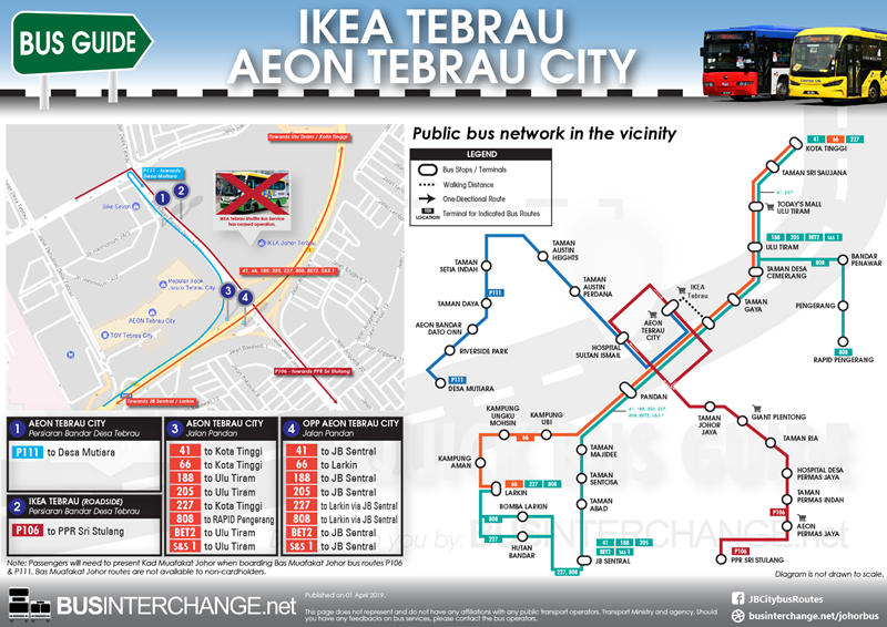 Bus Services to AEON Tebrau City / IKEA Tebrau