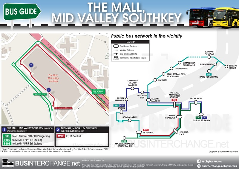 Bus Services to The Mall, Mid Valley Southkey