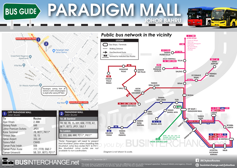 Overall Easy Diagram to Paradigm Mall Johor Bahru