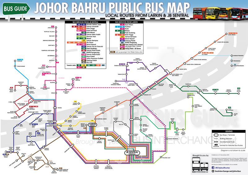 JB Quick Bus Guide From JB Sentral & Larkin